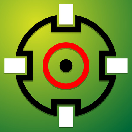 precision: Crosshair, target mark icon, symbol. Accuracy, focus, precision concepts. Illustration