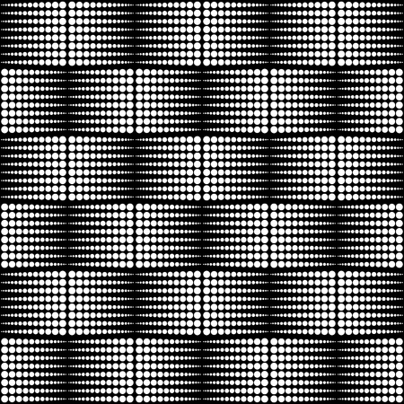 staggered: Abstract monochrome dotted half tone pattern. Repeatable.