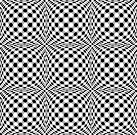 protuberant: Seamless 3d dotted pattern with bulging distortion effect