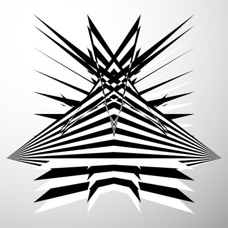 forme geometrique: Résumé froissé, déformé forme. Géométrique, élément edgy