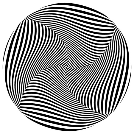 distortion: Abstract monochrome circle element with spirally distortion effect Illustration