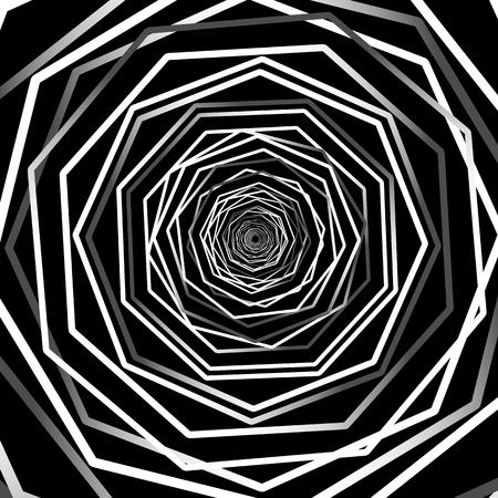 random: Abstract background with random rotating octagon shapes