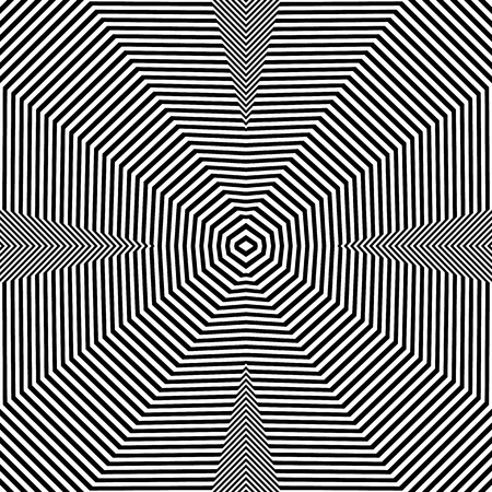 repeatable: Abstract geometric lines pattern. Symmetric deformed squarish geometry. (Seamlessly repeatable.)