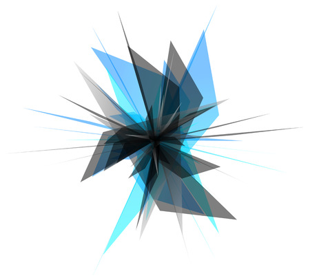 splinters: Abstract edgy, geometric graphics. Shatters, splinters abstract digital art.