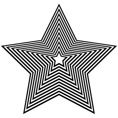 beveled: Abstract geometric star shape on white. Beveled 3d star. Illustration