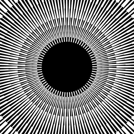 warp speed: Abstract bursting, radiating lines. Monochrome artistic image. Illustration