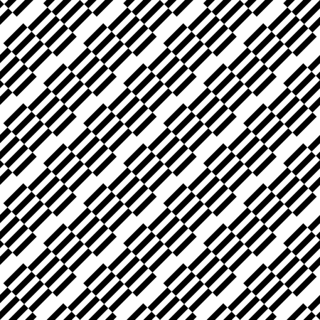 repeatable: Geometric black and white pattern. Seamlessly repeatable.
