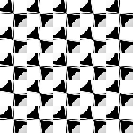 astract: Various abstract geometric patterns, monochrome mosaic backgrounds. Repeatable.