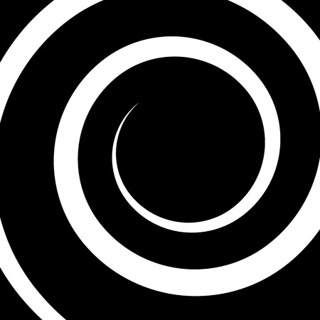volute: Monochrome background with spiral, volute shape. Abstract curvy tendril graphic.