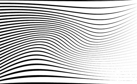 Abstrakte Muster / Textur mit welligen, wogenden Linien