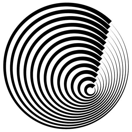 circulos concentricos: c�rculos conc�ntricos con ictus elemento abstracto perfil.