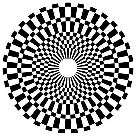 Abstract geometric monochrome checkered circle design element 일러스트