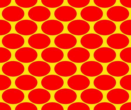 warhol: Duotone pop art, polka dots pattern. Seamlessly repeatable background with ovals, ellipses. Retro style backdrop. Illustration