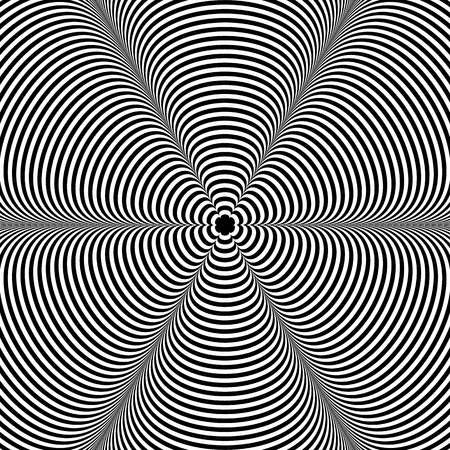 amorphous: Abstract radiating pattern with deformed shapes spreading from center