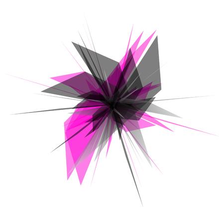 arte moderno: nervioso extracto, gráficos geométricos. Se rompe, astillas de arte digital abstracto.