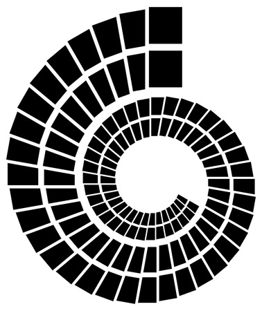 volute: Abstract volute, spiral shape