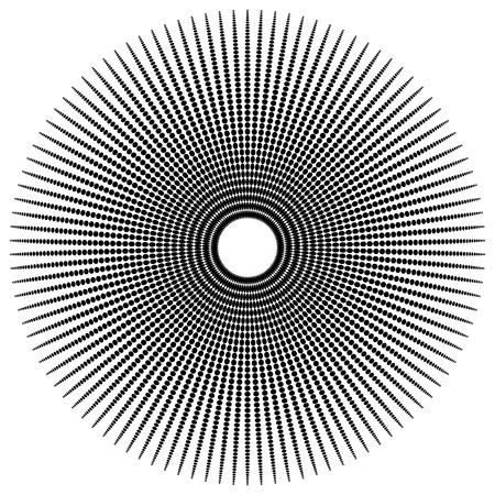 spoke: Abstract radial, dotted element with oval shapes.