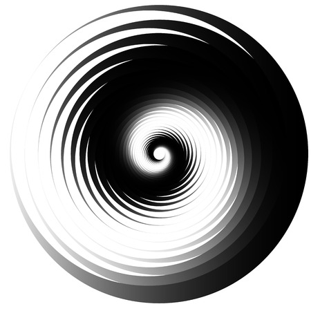 gyration: Concentric - converging circles. Abstract vortex, spiraling graphics.