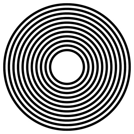 radiating: Simple concentric, radiating circle graphics isolated on white Illustration