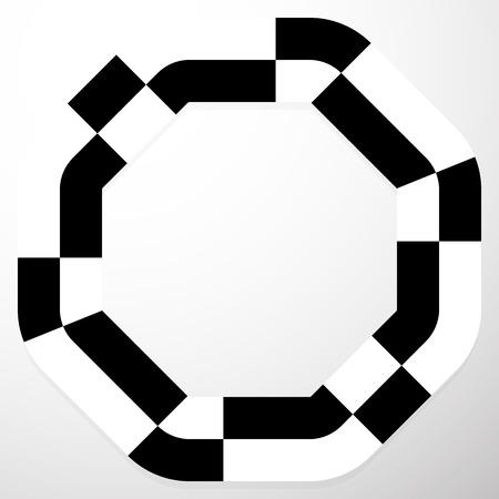 irregular: Abstract frame with irregular checkered, pepita filling.