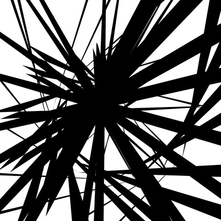Random artistic lines. Monochrome geometric modern art image.