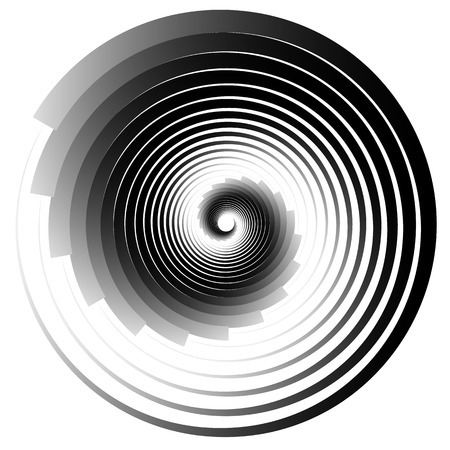 misshapen: Concentric - converging circles. Abstract vortex, spiraling graphics.