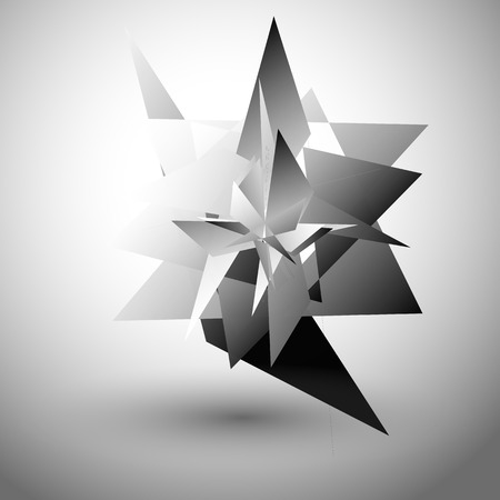 edgy: Abstract edgy, geometric graphics. Shatters, splinters abstract digital art.