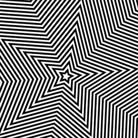 centric: Monochrome background with 5 point star shape