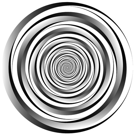 vortex: Concentric - converging circles. Abstract vortex, spiraling graphics.