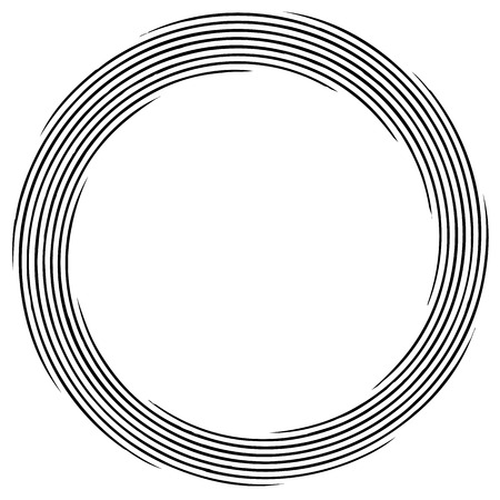 gyration: Abstract spirally element. Spinning, vortex graphic. Concentric circles.
