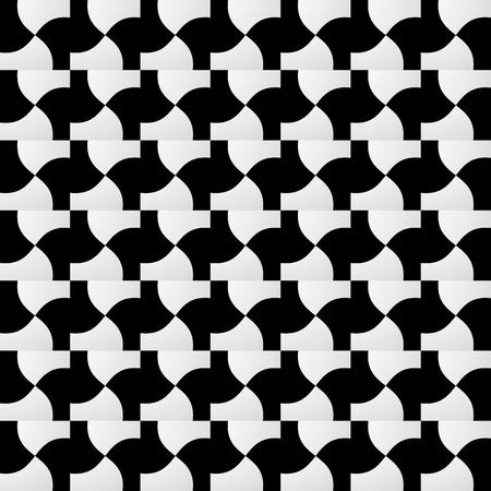 Varios patrones geométricos abstractos, fondos de mosaico monocromo. Repetible