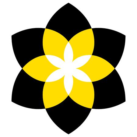 fleur géométrique ou un motif générique isolé sur blanc