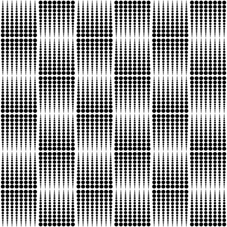 half tone: Abstract monochrome dotted half tone pattern. Repeatable.