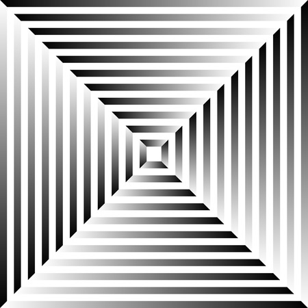 grayscale: Grayscale abstract pattern, background with radiating squares