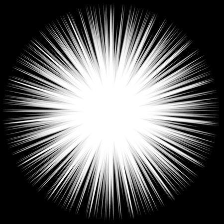 spiky: Abstract bursting, spiky shape. Monochrome vector design element.