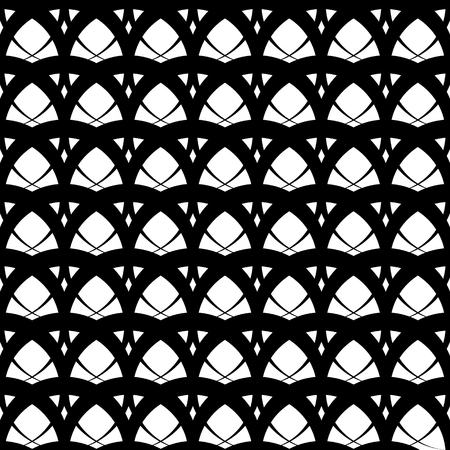 repeatable: Intersecting circles abstract monochrome Repeatable pattern.