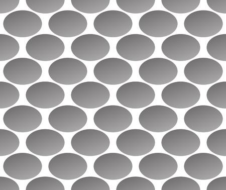 Grayscale, modèle monochrome avec ellipse, formes ovales. Seamlessly répétable. sensation industrielle.
