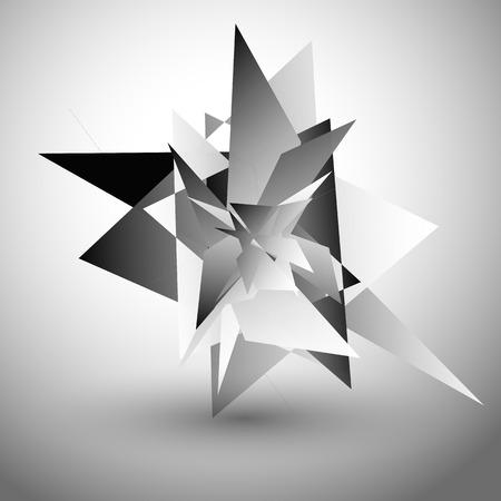 splinter: Abstract edgy, geometric graphics. Shatters, splinters abstract digital art.