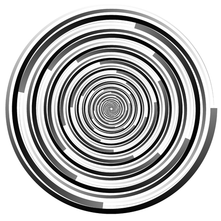 Abstract spirally element. Spinning, vortex graphic. Concentric circles.