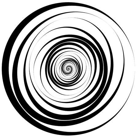cercles convergents - Concentric. Abstract vortex, graphiques spirale.