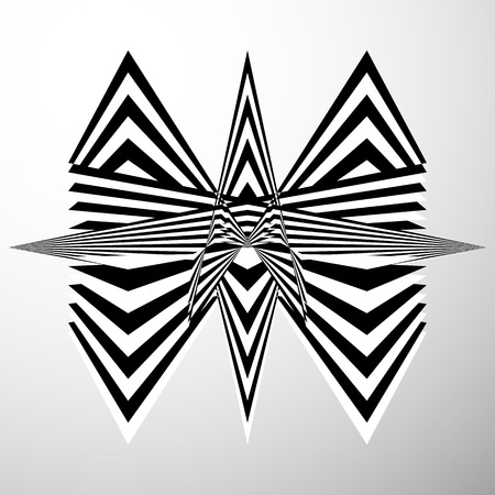 crumpled: Abstract crumpled, distorted shape. Geometric, edgy element