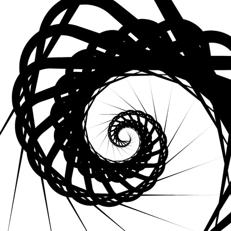 volute: Abstract volute, spiral background. Rotating, concentric shapes. Illustration