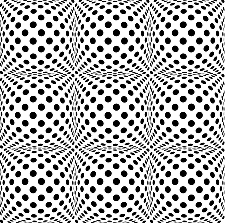 bulging: Seamless 3d dotted pattern with bulging distortion effect