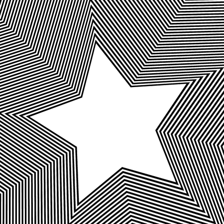 back ground: Monochrome background with 5 point star shape