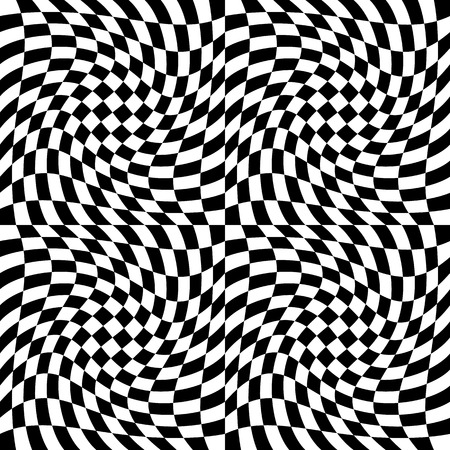 Checkered pattern with distortion effect. Can be seamlessly repeated.