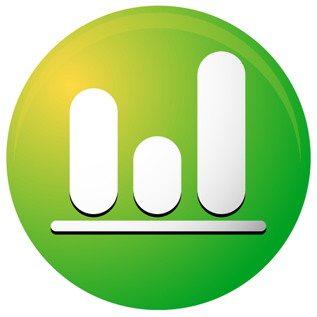 barchart: Icon with bar graph, bar chart symbol