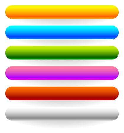 bigger: Horizontal banner, button templates in 6 colors with bigger shadow Illustration