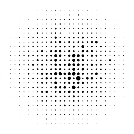 prepress: Circle halftone element, monochrome abstract graphic for DTP, prepress or generic concepts.