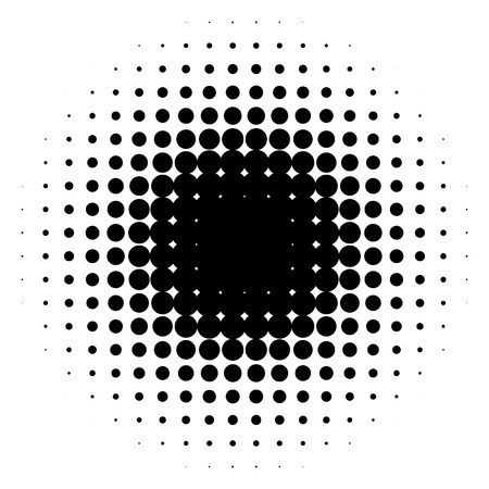 flecks: Circle halftone element, monochrome abstract graphic for DTP, prepress or generic concepts.