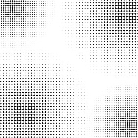 prepress: Halftone like element of crosses. Monochromatic abstract image.